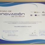 Diploma Premio a la excelencia en Innoivación otorgado por ADER