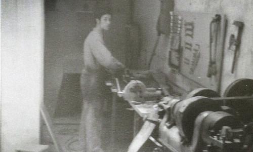 Santos Mortte en el taller original