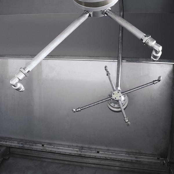 Máquina Lavamoldes detalle interior