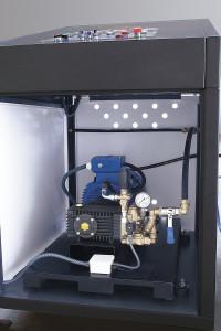 Máquina Lavamoldes interior panel de control